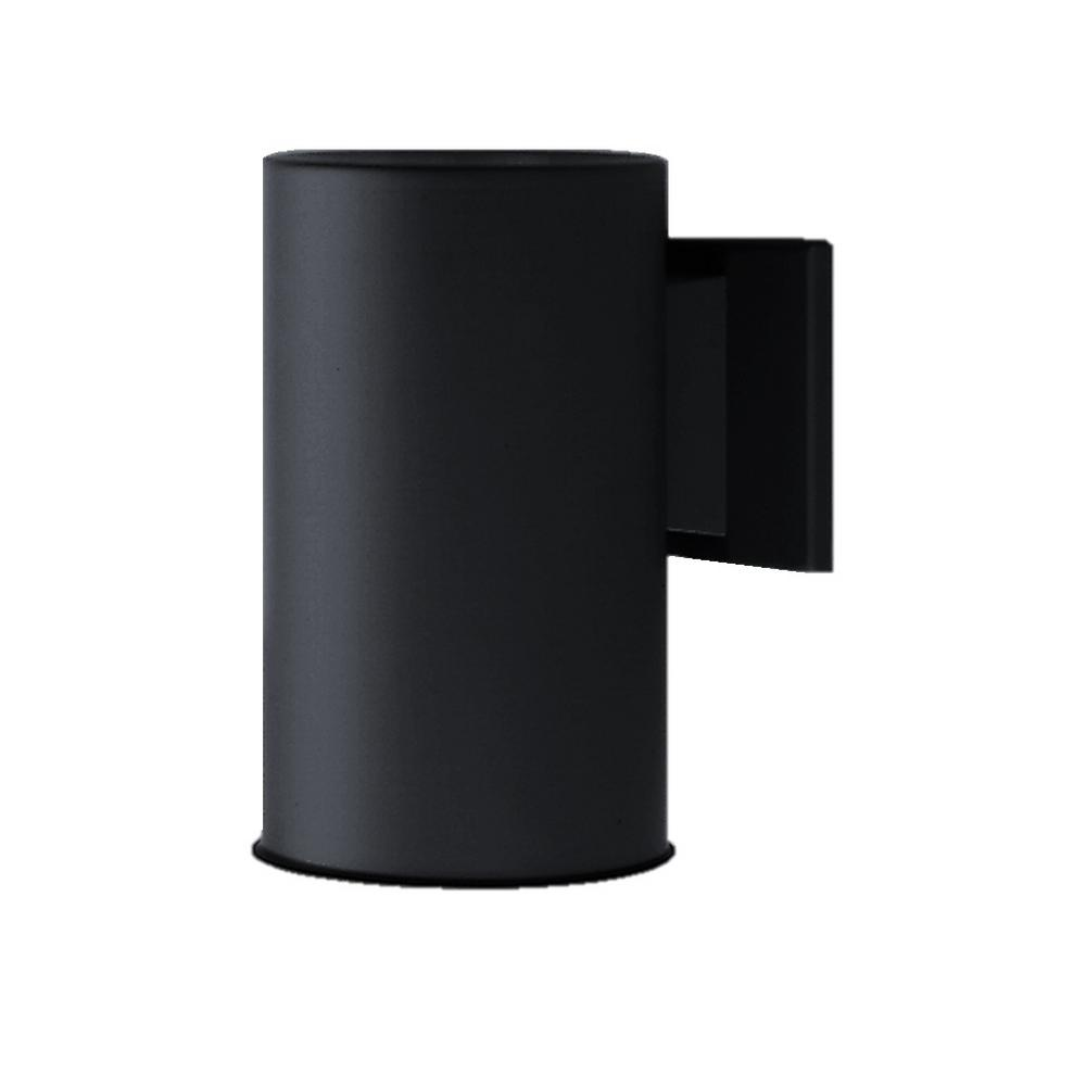 75-Watt Black Outdoor Wall Mount Sconce Down Light