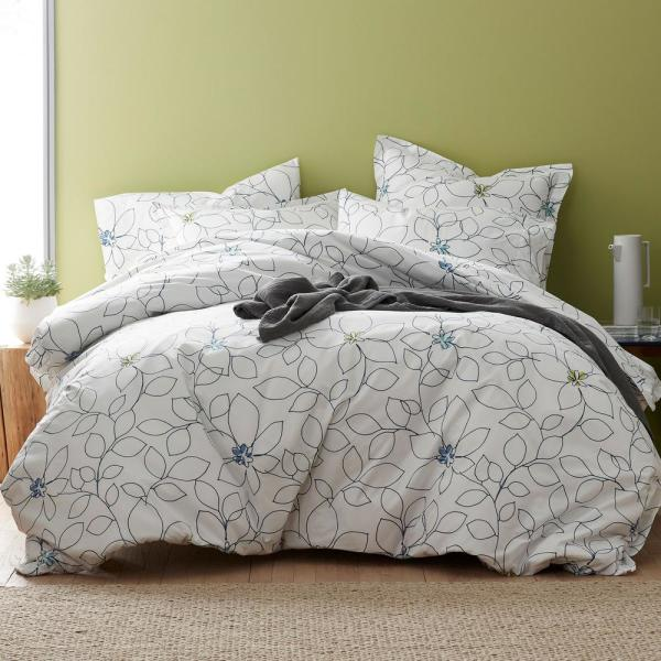 The Company Store LoftHome Derby Floral Queen Duvet Cover 50208D Q MULTI    The Home Depot