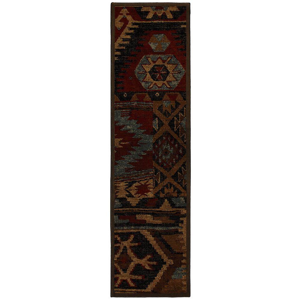 Mohawk Home Sabriel Coco Leaf 2 ft. x 7 ft. 6 in. Runner