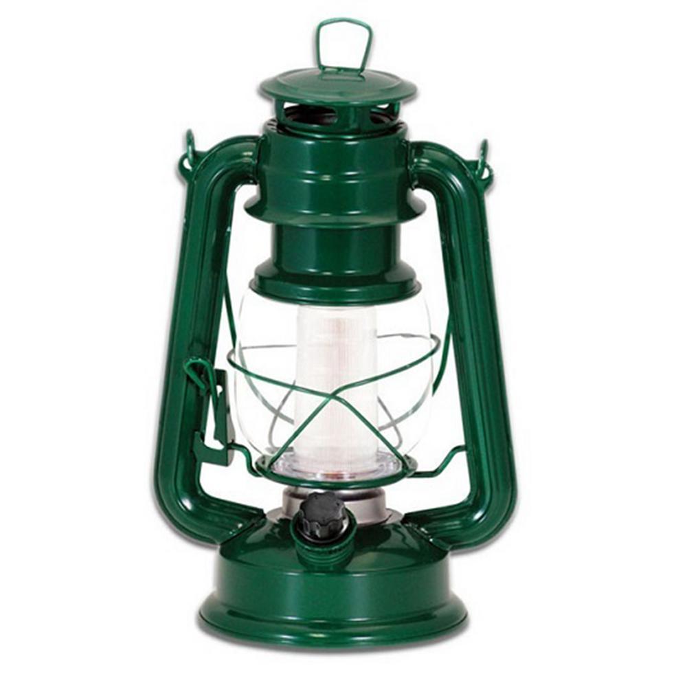 Vintage Style Green LED Lantern