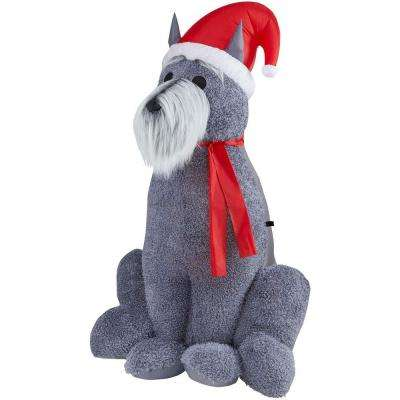 6 ft. H Inflatable Furry Schnauzer Dog