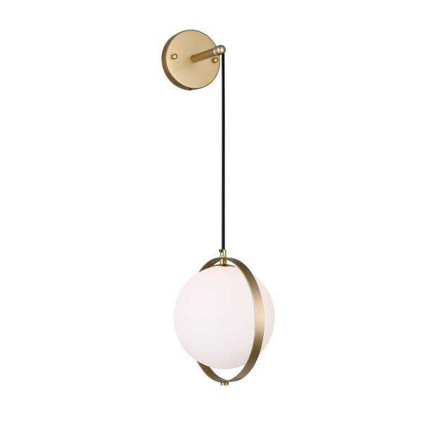 Da Vinci Collection 10 in. Medallion Gold Sconce