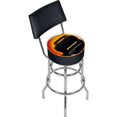 Pontiac GTO Time and Distance 30 in. Chrome Swivel Cushioned Bar Stool