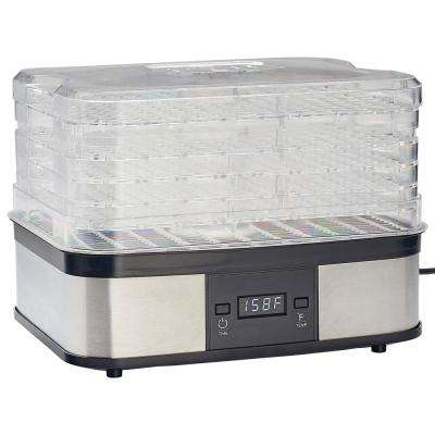 5-Tray Clear and Black Food Dehydrator