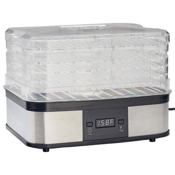 LEM 5-Tray Clear and Black Food Dehydrator 1378