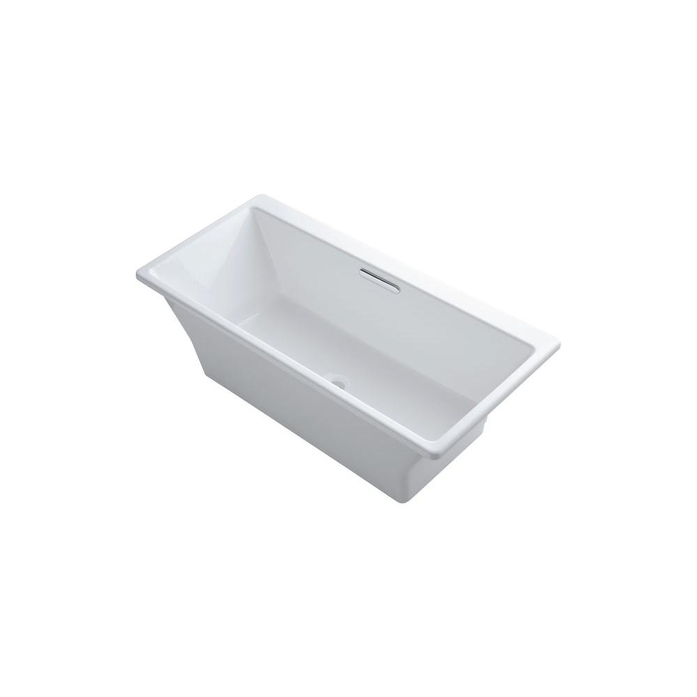 Kohler Reve 5 58 Ft Center Drain Freestanding Bathtub