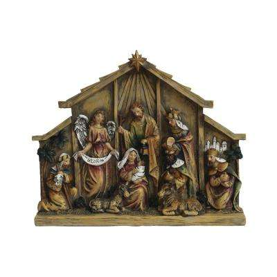 8.75 in. Christmas Nativity in Relief