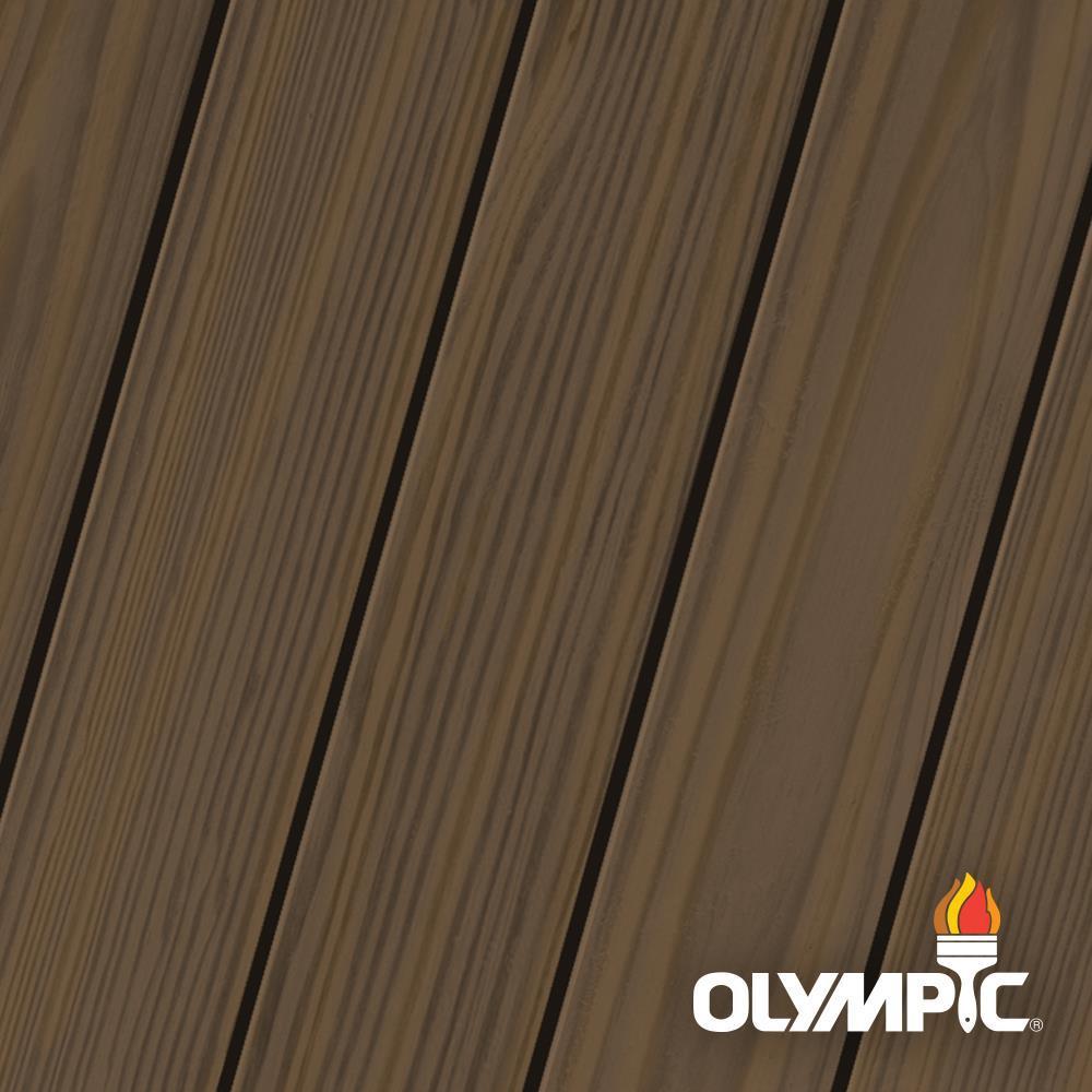 Olympic Maximum 5 Gal. Espresso Semi-Transparent Exterior Stain and Sealant in One Low VOC