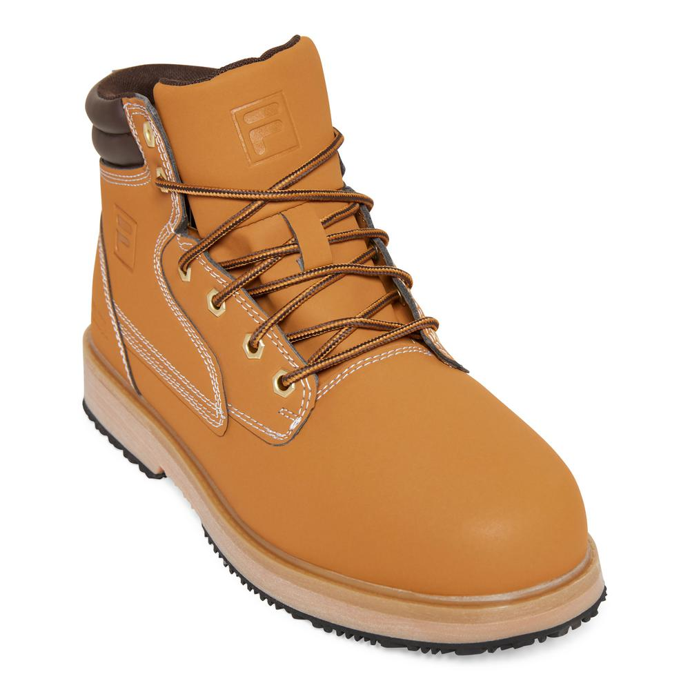 c4e3bf086ae Fila Landing Steel Men Size 10 Wheat/Espresso Synthetic Steel Toe Work Boot