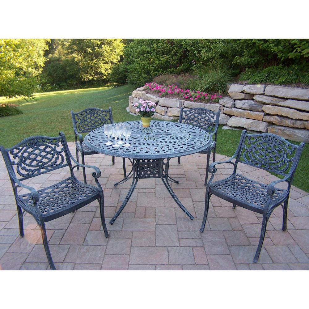 Capitol Verdi Grey 5-Piece Aluminum Outdoor Dining Set