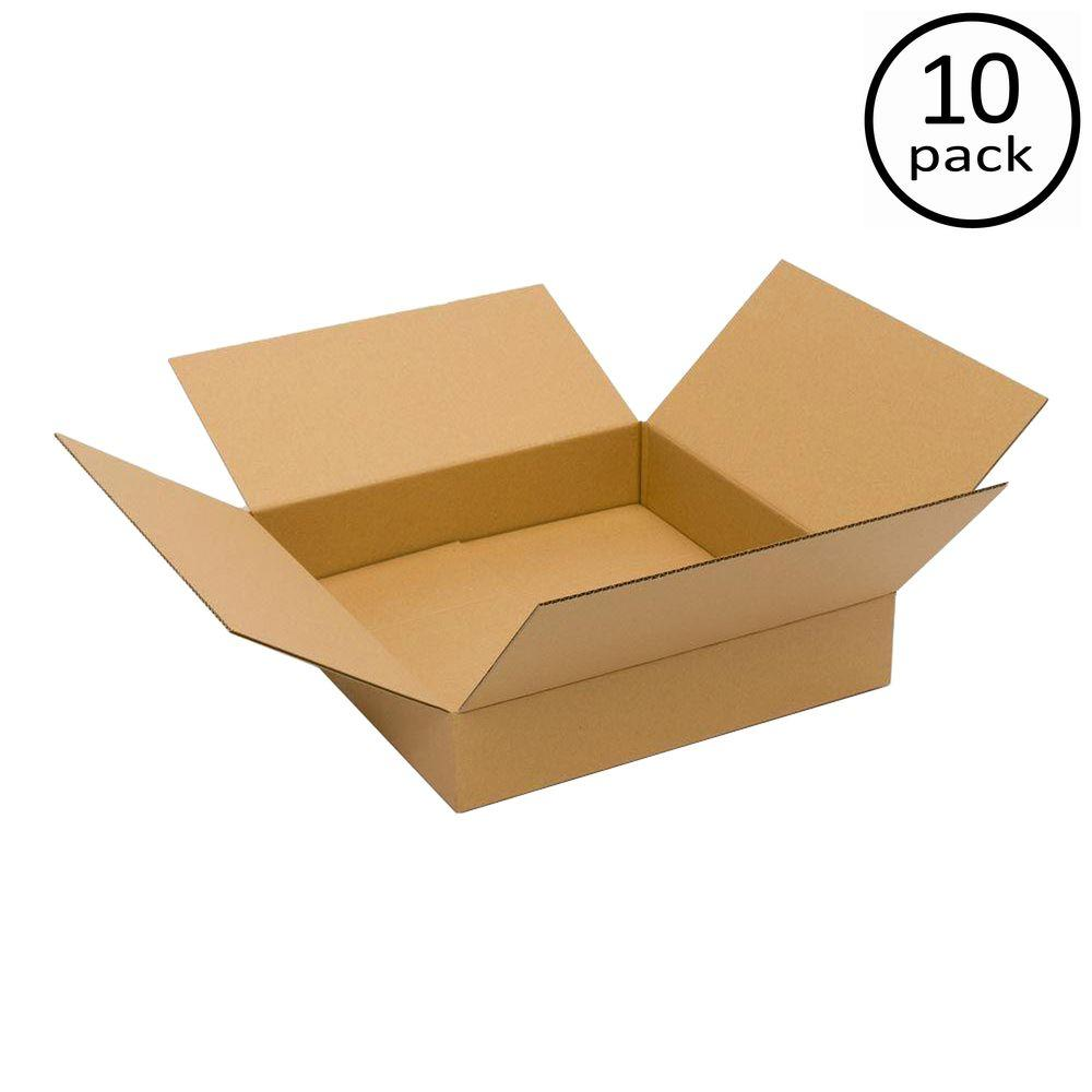 Plain Brown Box 20 in. x 20 in. x 4 in. 10-Box Bundle