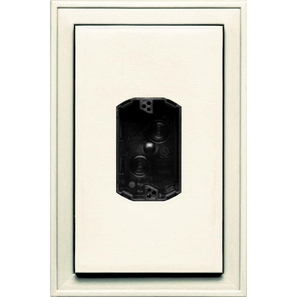 8.125 in. x 12 in. #034 Parchment Jumbo Electrical Mounting Block
