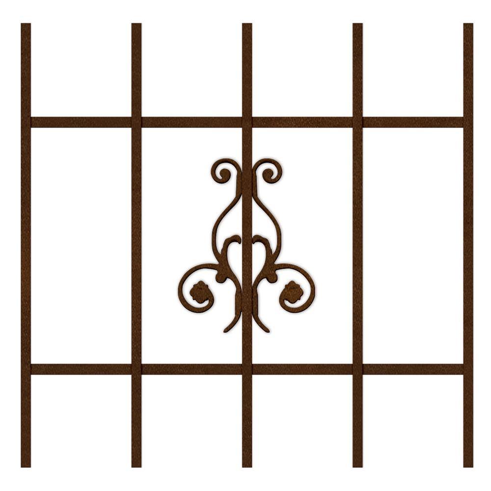 Unique Home Designs La Entrada 24 in. x 36 in. Copper 5-Bar Window Guard-DISCONTINUED