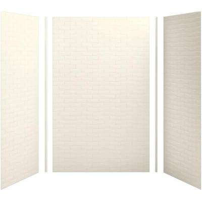 Choreograph 60in. X 36 in. x 96 in. 5-Piece Shower Wall Surround in Biscuit with Brick Texture for 96 in. Showers