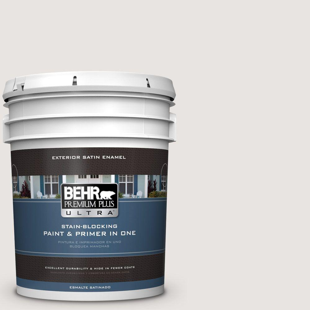 BEHR Premium Plus Ultra 5-gal. #PR-W8 Ambience White Satin Enamel Exterior Paint