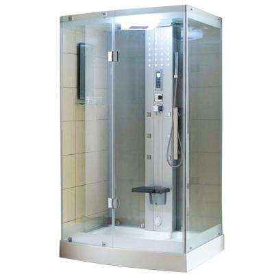 WS-300 48 in. x 36 in. x 85 in. Steam Shower Enclosure Kit in White