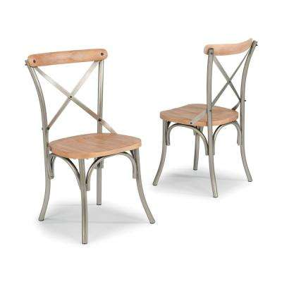 French Quarter Aged White Wash Natural Dining Chair (Set Of 2)