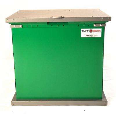 BRUIN 100 Gal. Green Galvanized Metal Animal Resistant Storage Container