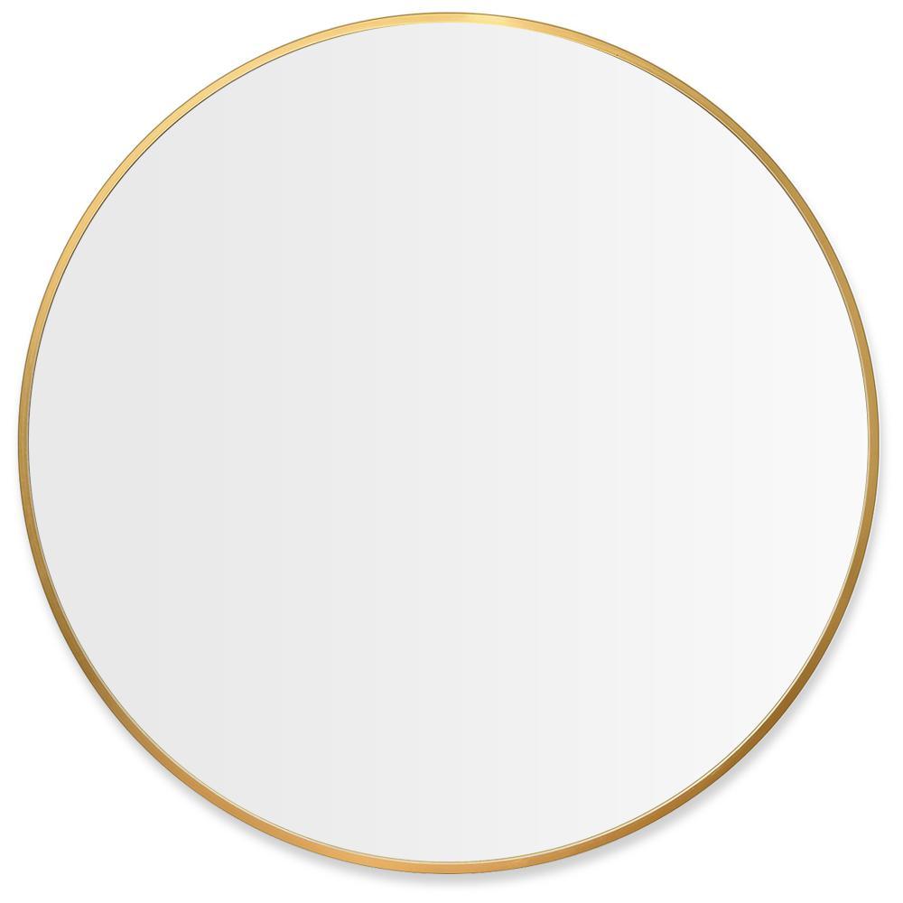 35.4 in. x 35.4 in. Modern Round Metal Framed Wall Mounted Bathroom Vanity Mirror