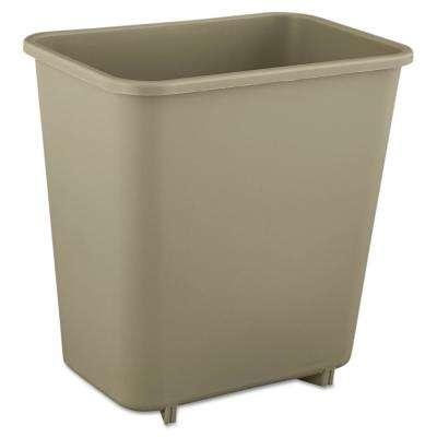 2 Gal. Beige Rectangular Trash Can