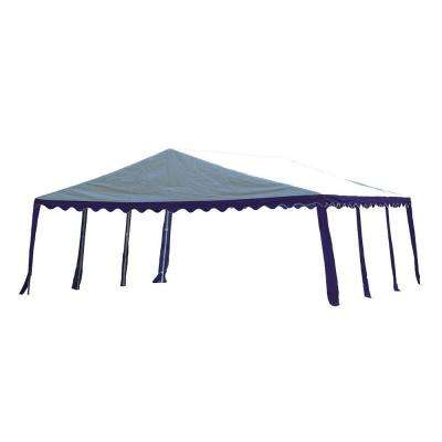 20 ft. x 20 ft. Blue/White Party Tent
