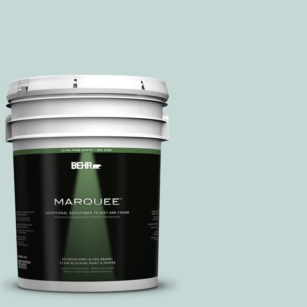 BEHR MARQUEE 5-gal. #480E-2 Tide Pools Semi-Gloss Enamel Exterior Paint