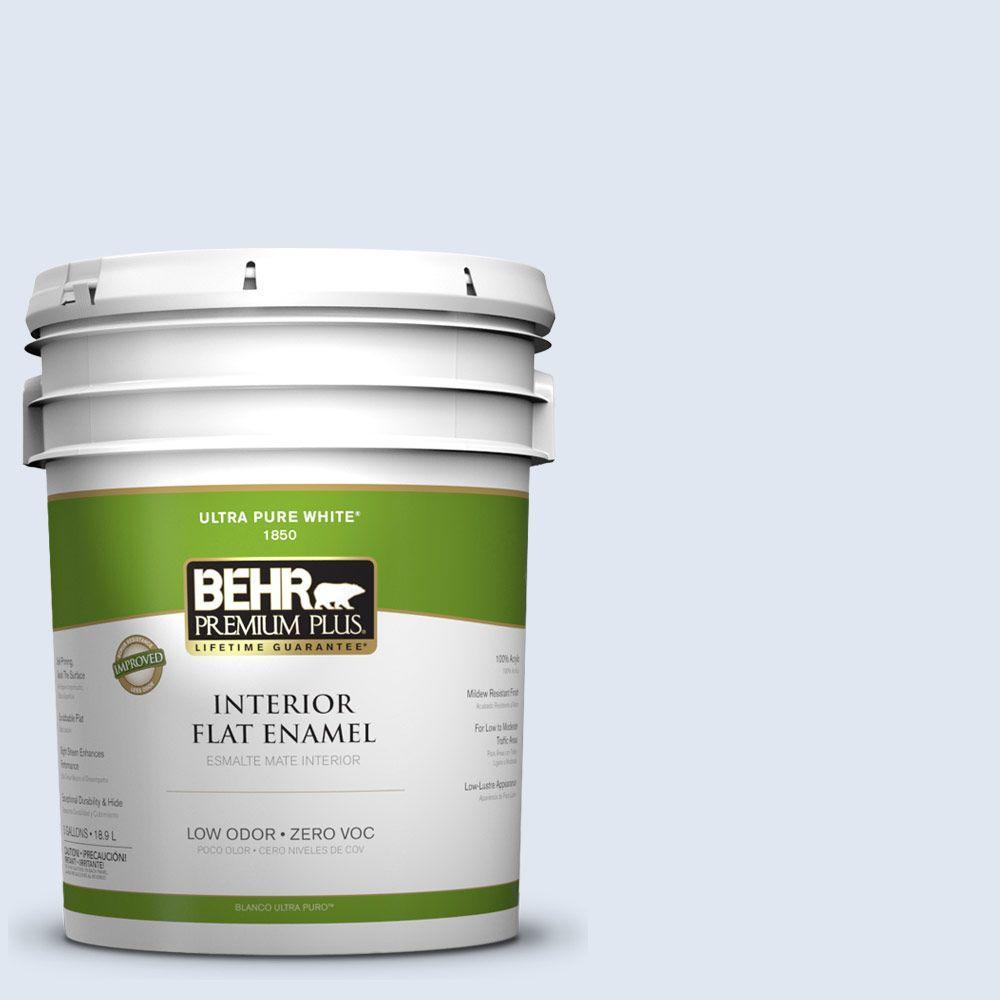 BEHR Premium Plus 5-gal. #580A-1 Fog Zero VOC Flat Enamel Interior Paint-DISCONTINUED