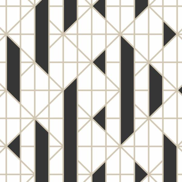 Graham & Brown Black and White Linear Removable Wallpaper 103001
