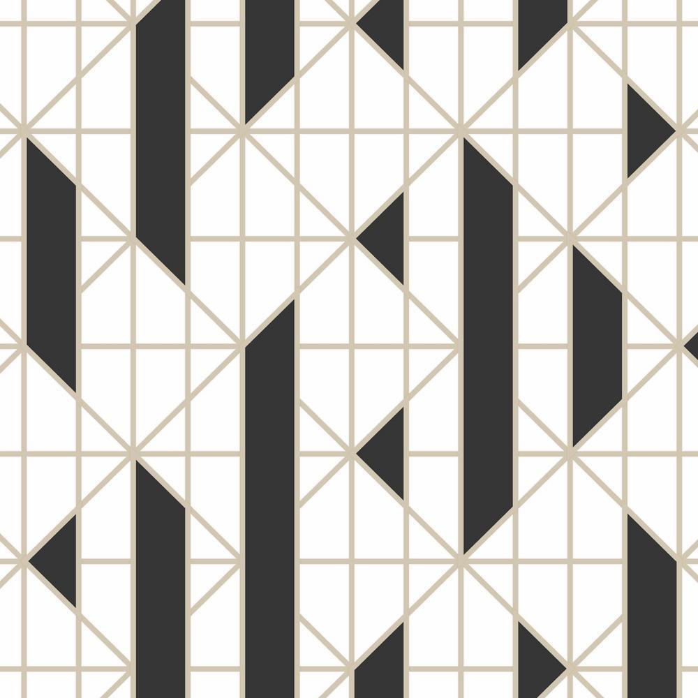 Graham & Brown Black & White Linear Removable Wallpaper Sample 10300194