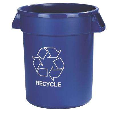 20 Gal. Blue Imprinted Recycle Trash Can (6-Pack)