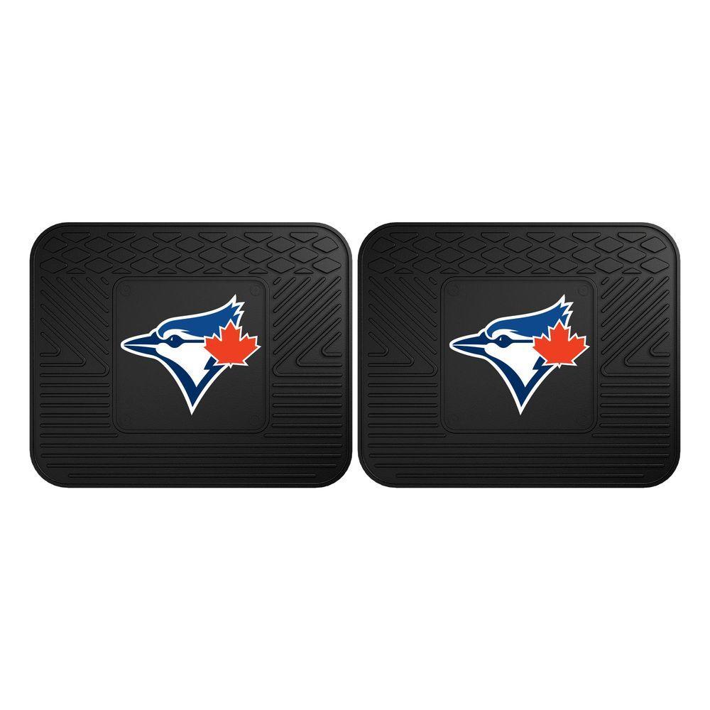 MLB Toronto Blue Jays Black Heavy Duty 2-Piece 14 in. x 17 in. Vinyl Utility Mat