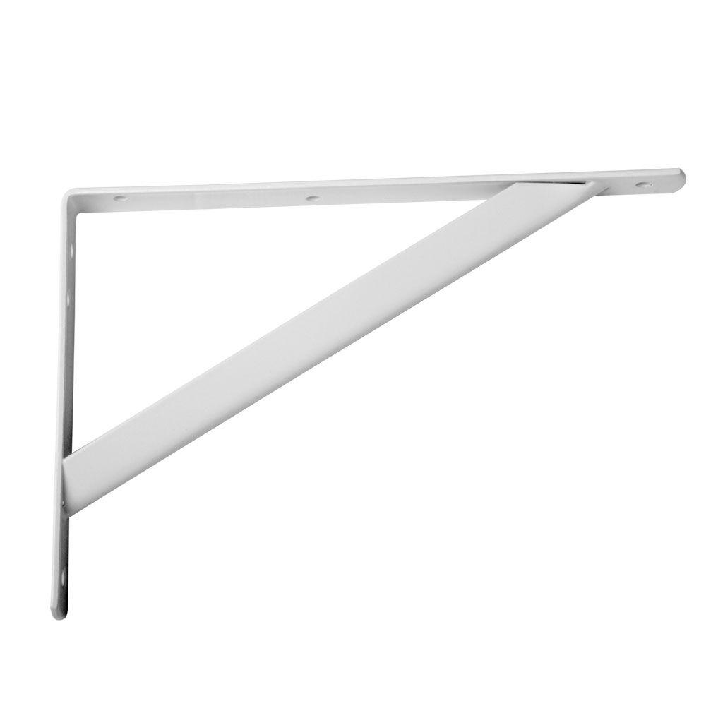 Everbilt 18 in. x 16 in. White Heavy Duty Shelf Bracket-14835 ...