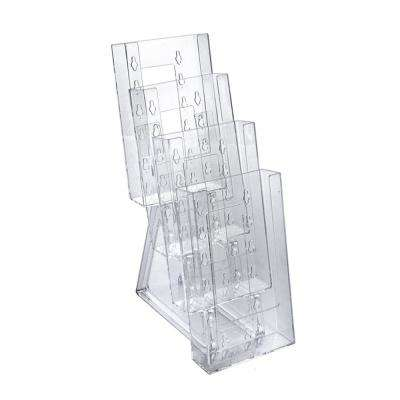 4-Tier Trifold Counter Brochure Holder with Brackets