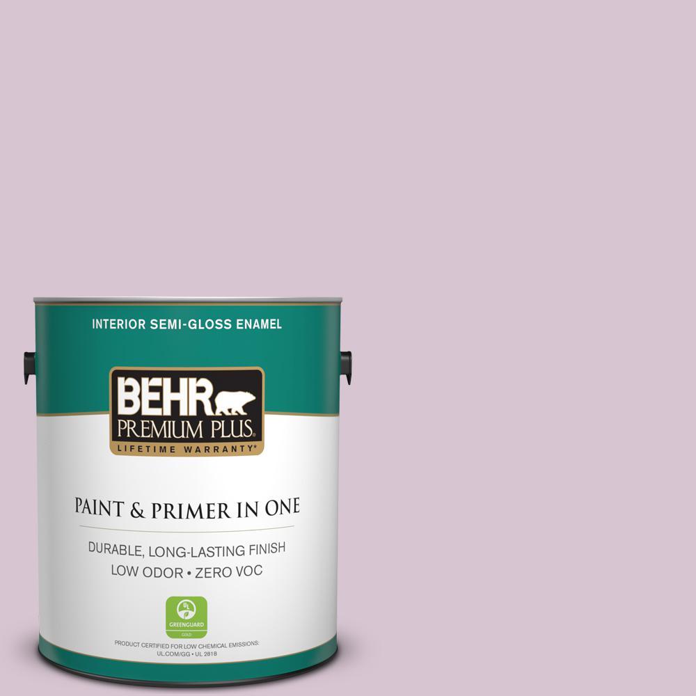 1-gal. #680E-3 Rosy Lavender Zero VOC Semi-Gloss Enamel Interior Paint