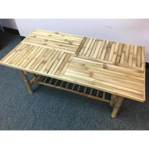 Natural Lacquer Finish Bamboo Coffee Table by