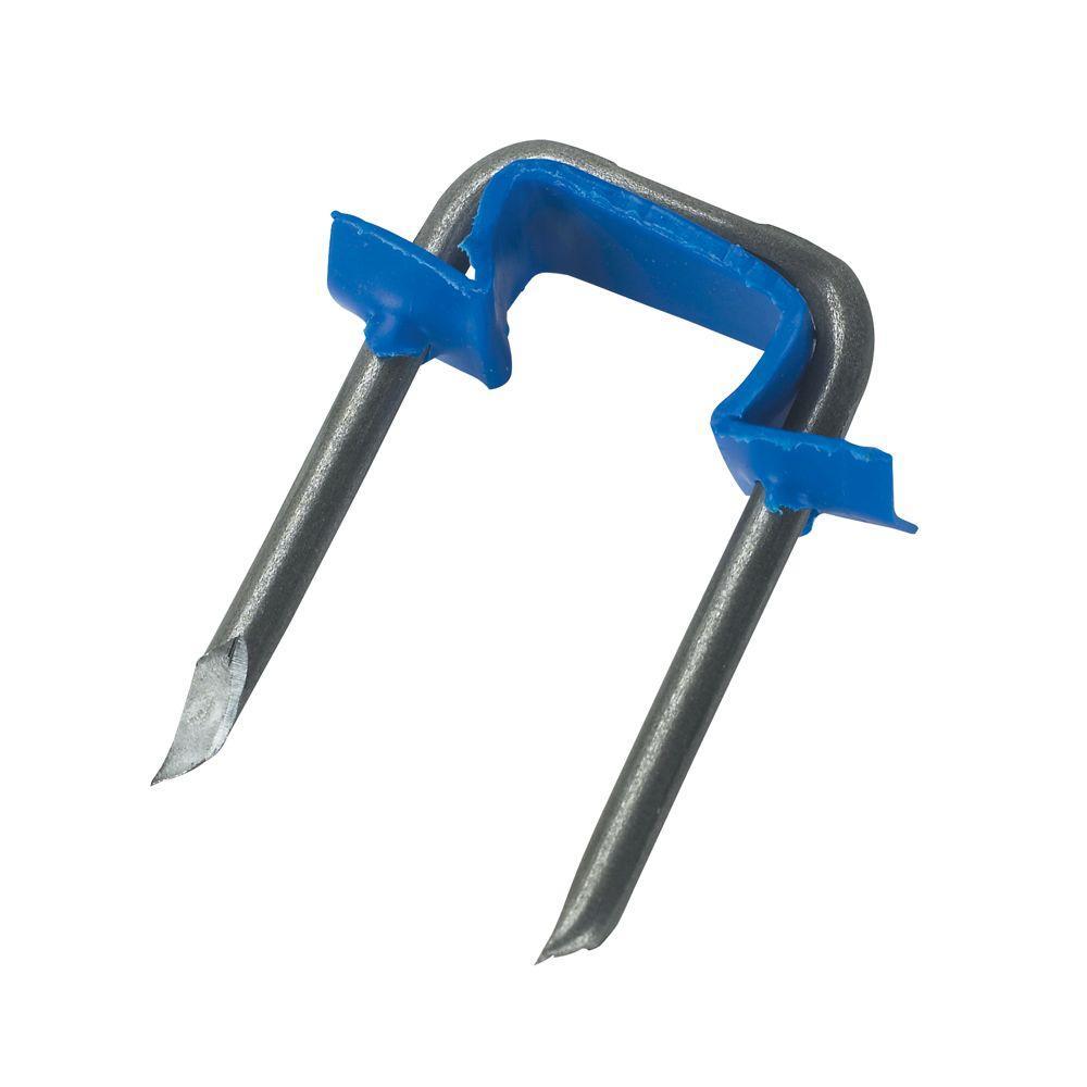 Gardner Bender 1/2 inch Polyethylene and Metal Insulated Staples - Blue... by Gardner Bender