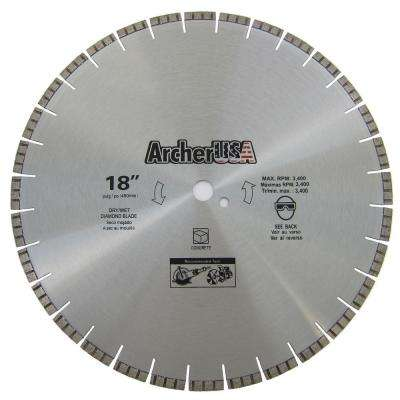 18 in. Diamond Blade for Concrete Cutting