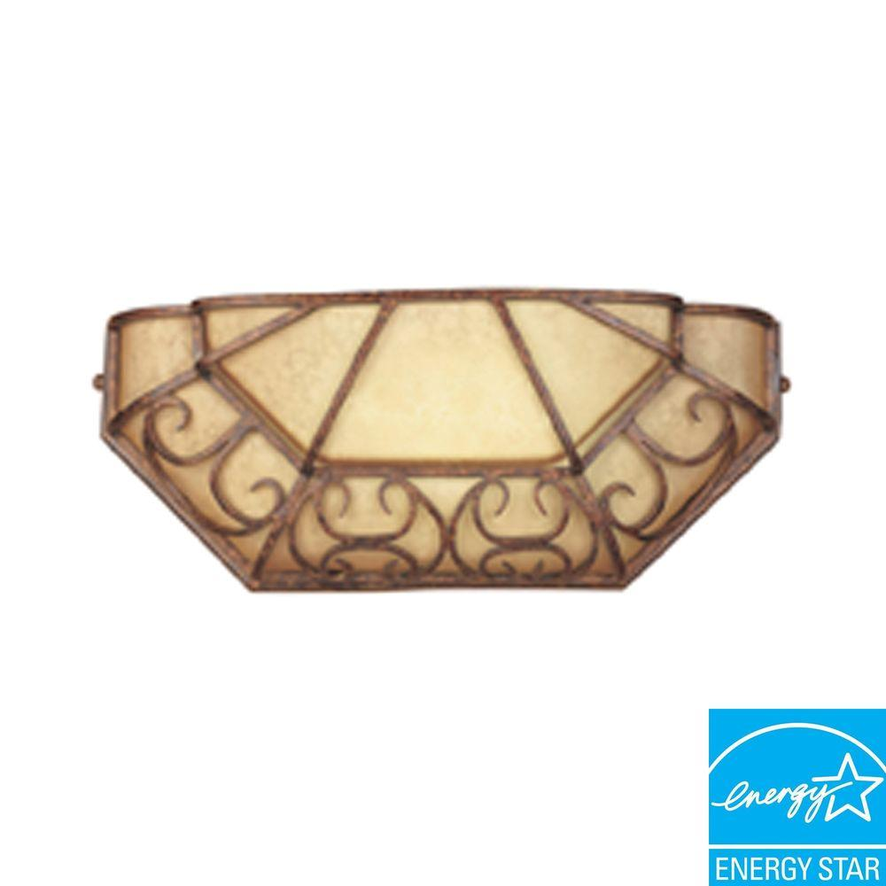 Designers Fountain Somerset 1-Light Burnt Umber Fluorescent Wall Flushmount