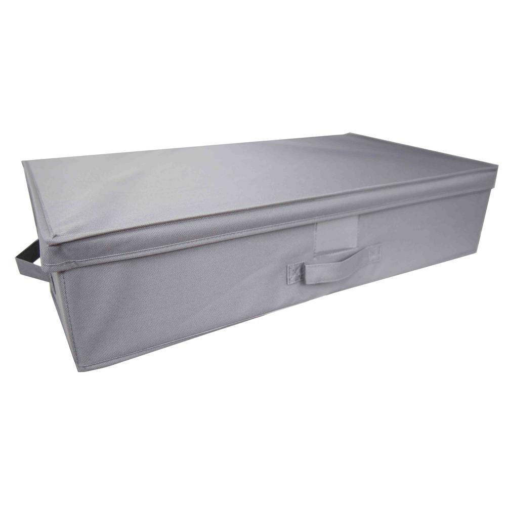 Grey Storage Bin  sc 1 st  The Home Depot & HOME basics 28 in. x 6 in. Grey Storage Bin-SB45208 - The Home Depot