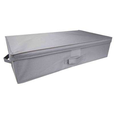 28 in. x 6 in. Grey Storage Bin