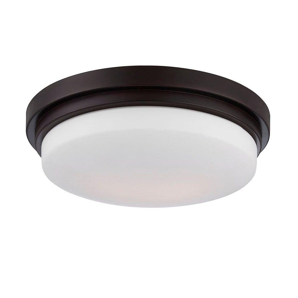 Wilson Collection 1-Light Bronze LED Flush Mount