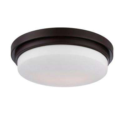 Wilson Collection 1-Light Bronze LED Flushmount