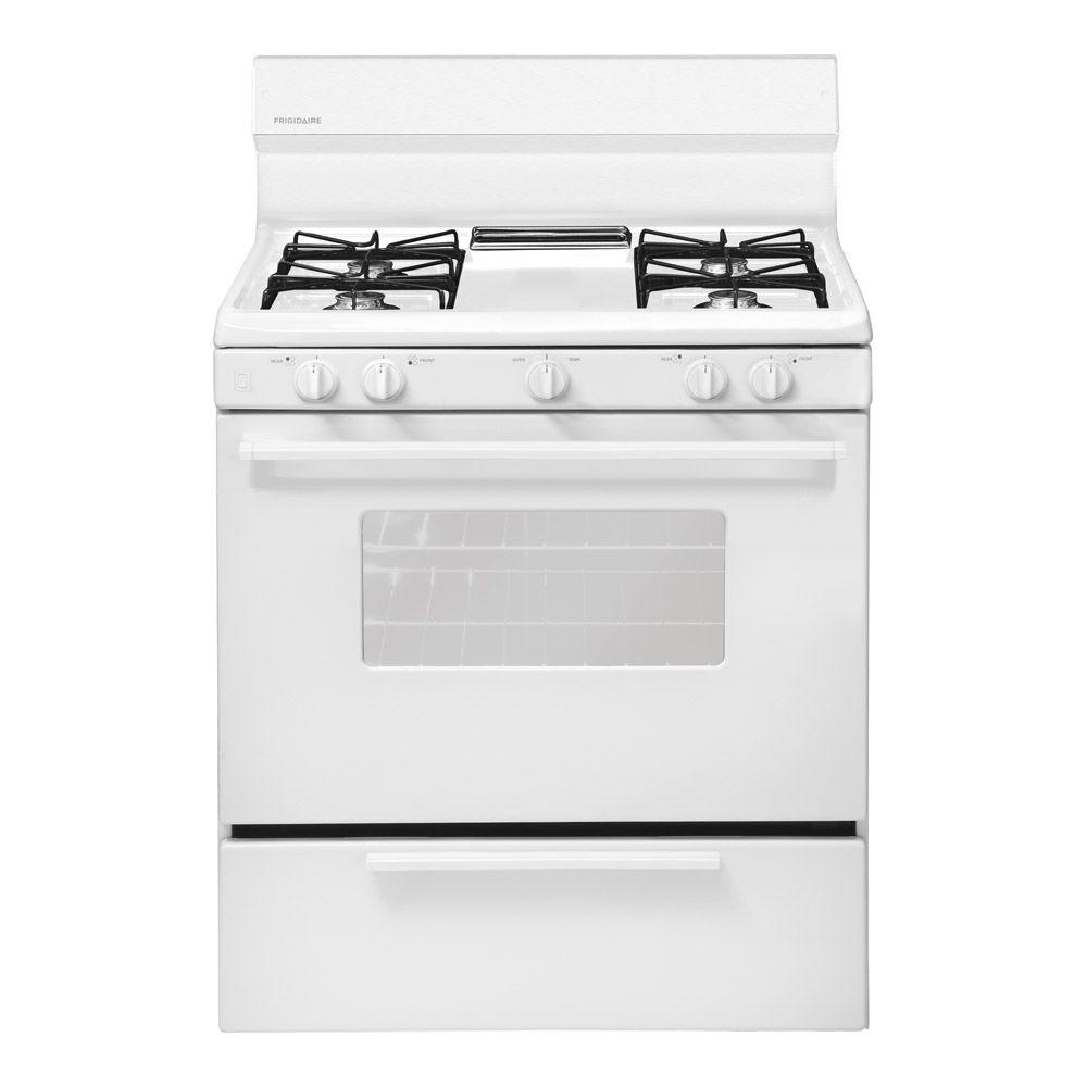Frigidaire 4 2 Cu Ft Gas Range In White Ffgf3005mw The