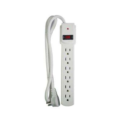 6-Outlet Surge Protector with 3 ft. Cord (2-Pack)