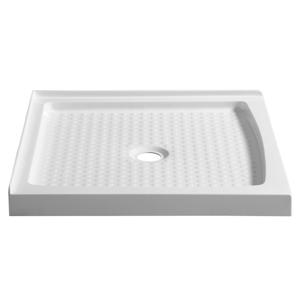 ANZZI Titan Series 36 in. x 36 in. Double Threshold Shower Base in White was $219.99 now $164.99 (25.0% off)