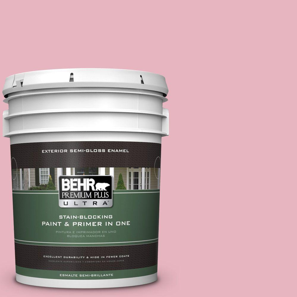 5-gal. #M140-3 Premium Pink Semi-Gloss Enamel Exterior Paint