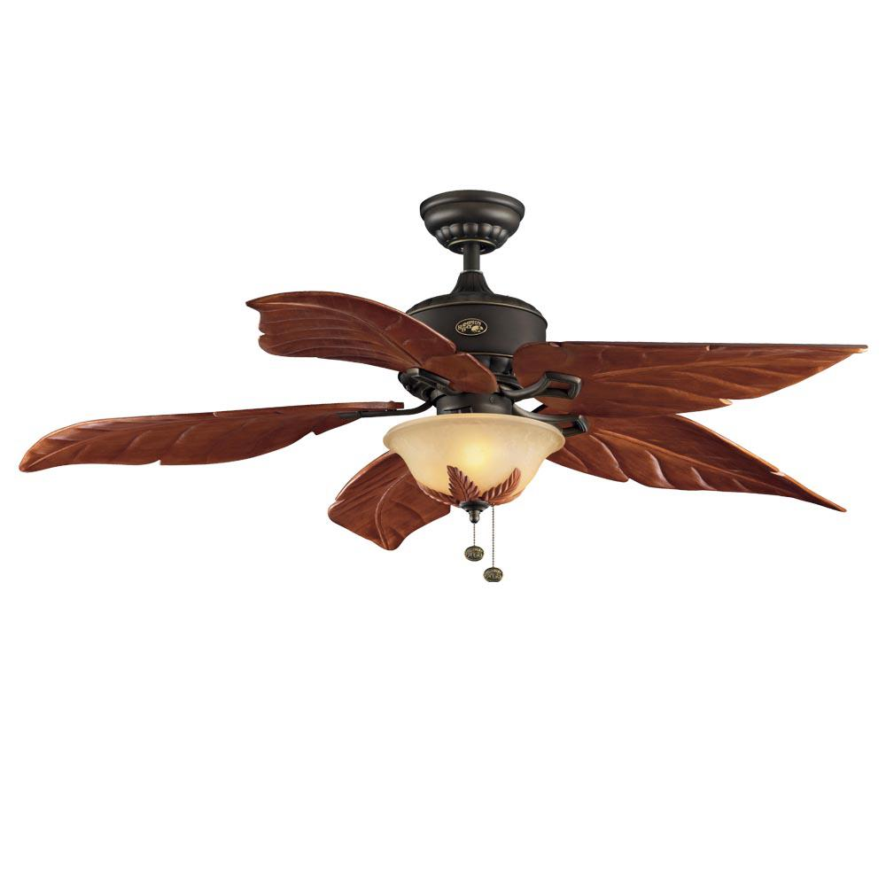 Hampton Bay Antigua Plus 56 in. LED Indoor Oil Rubbed Bronze Ceiling Fan  with Light