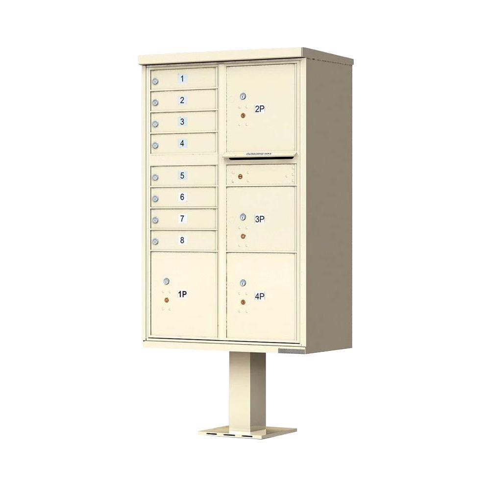 1570 Series 8-Mailboxes, 1-Outgoing Compartment, 4-Parcel Lockers, Vital Cluster Box Unit