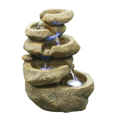 Rock 5 Level with LED Fountain