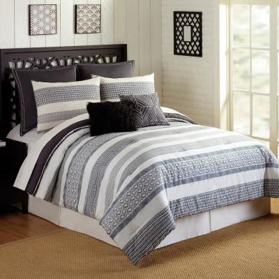 Deco 7-Piece Gray King Comforter Set